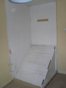 stairs bulkhead in Cabin Bedroom Fitted Furniture