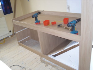 work in progress on Cabin Bedroom Fitted Furniture