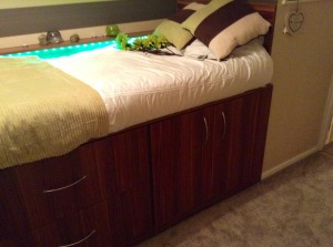 cabin bed made up