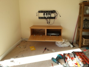Wall Mounted TV Under Construction