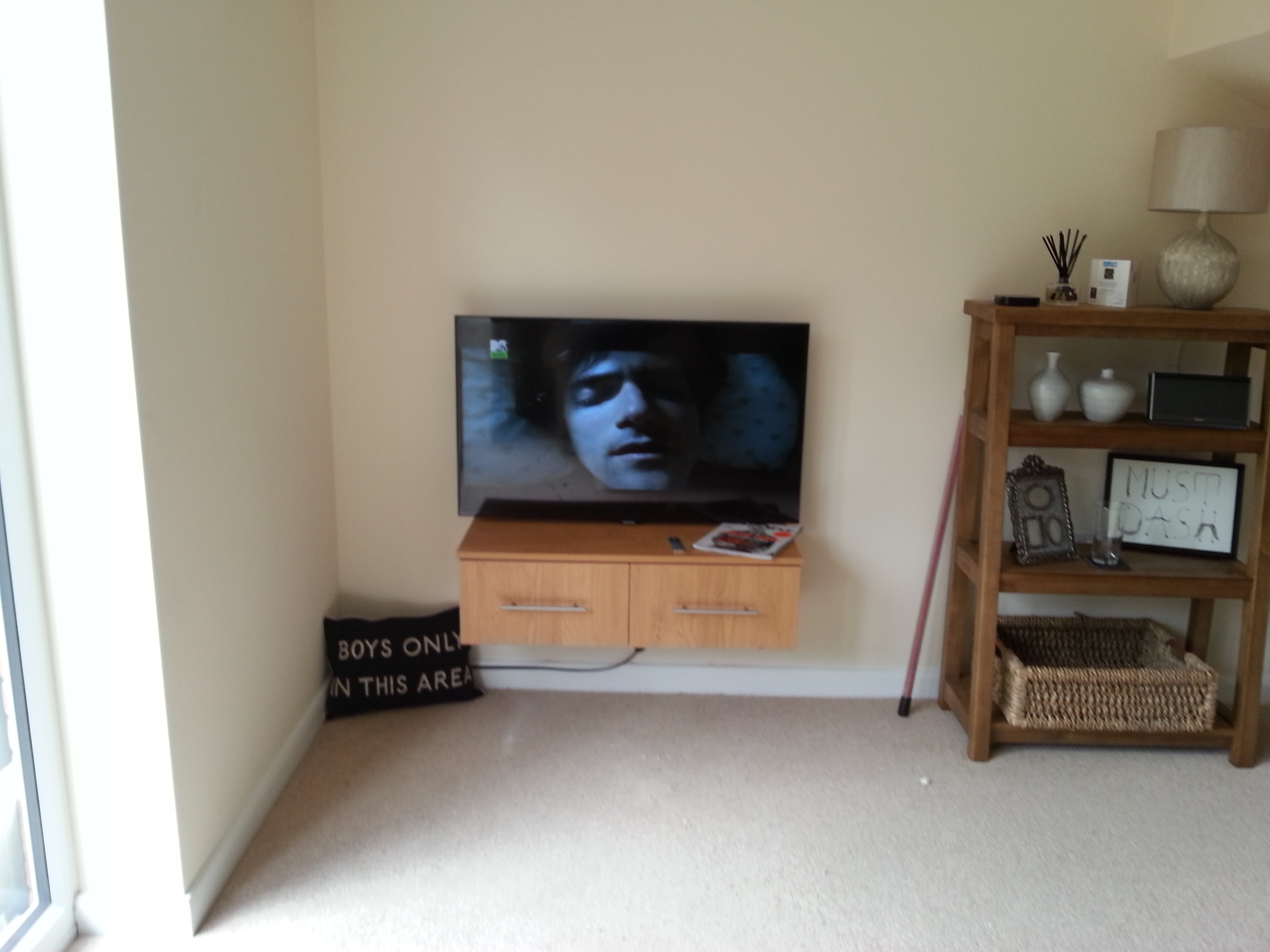Wall Mounted TV - Starting To Look Good