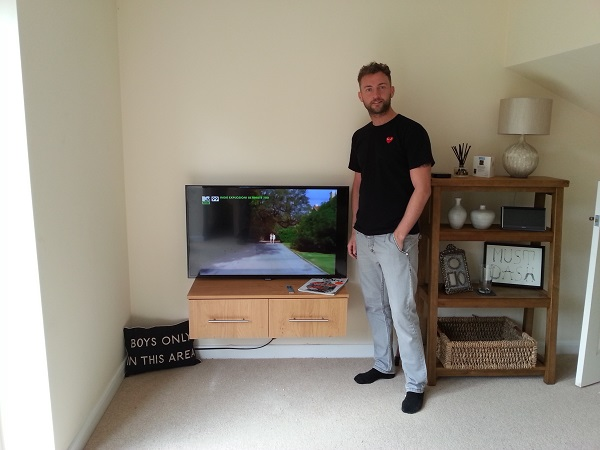 Mr G – Happy With His Wall Mounted TV Installation