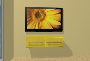 CAD Image Wall Mounted TV Installation