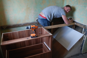 more work on cabin bed