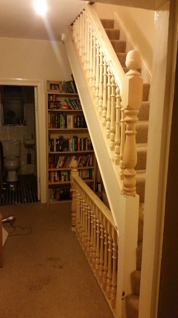 1st Floor Landing Opened Up With Replacement Spindles & Banister