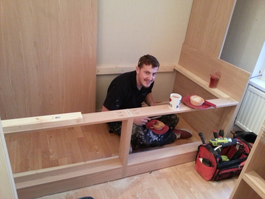 cabin bed building break