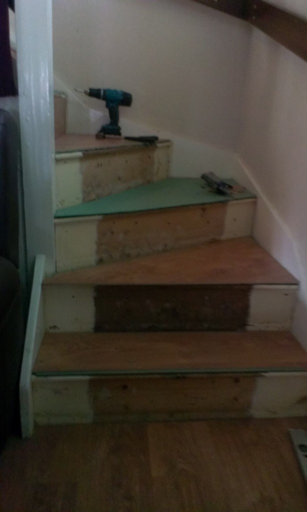 Stairs Ready For Laminate Flooring