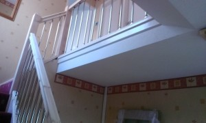 Completed Banisters & Spindles On Landing