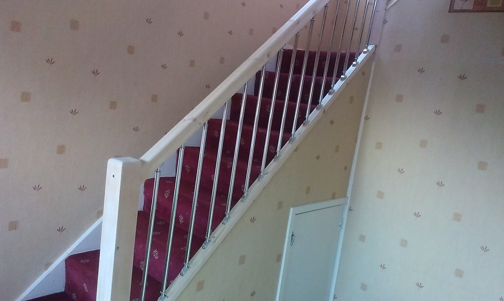Finished Job With Metal Spindles