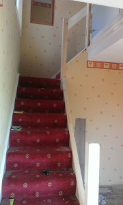 Staircase With Old Banister & Spindles Removed