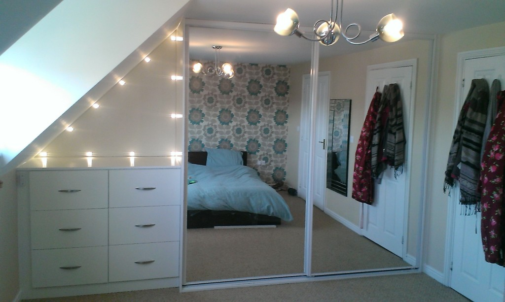 wardrobes with mirror sliding doors completed