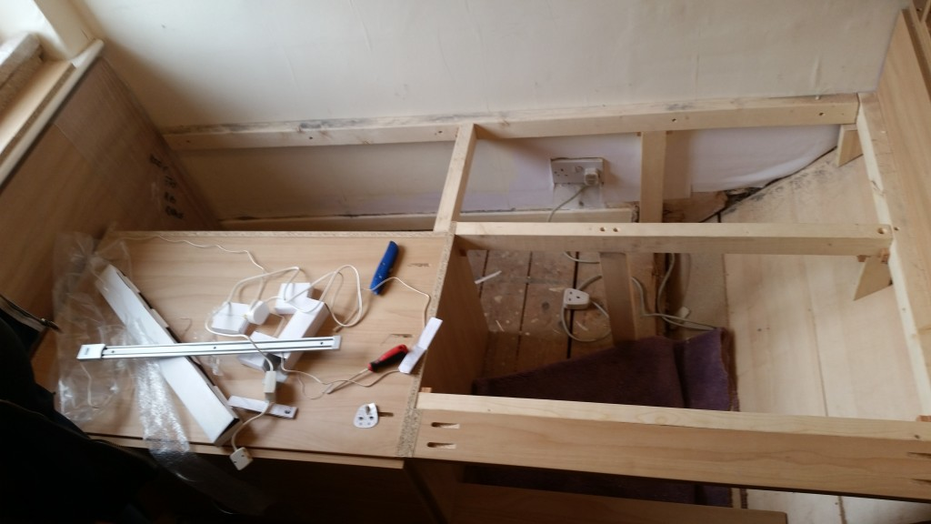 Cabin bed Under Construction