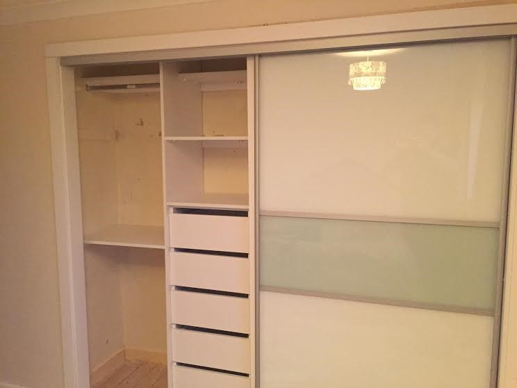 eft side of sliding wardrobe