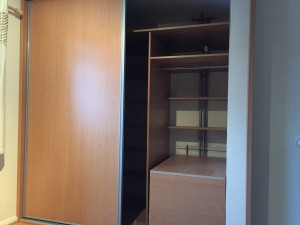 2 Door Sliding Wardrobe With Shelves