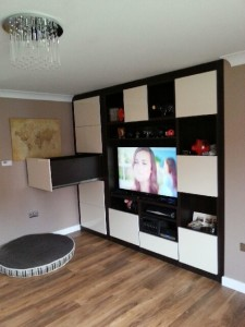 TV Unit With Storage Drawers