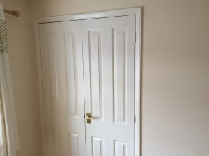 Wardrobe with cupboard doors