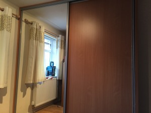 Mirrored & Wood 2 door Sliding wardrobe