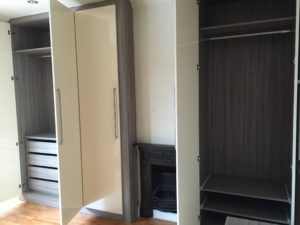 Building The Alcove Wardrobes With Shelves And Drawers