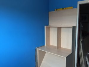 construction starts on the high sleeper bed with desk and wardrobe