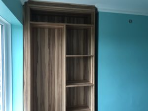 the fitted wardrobe in an alcove is looking good