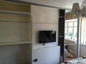 work in progress on 4 door sliding wardrobes