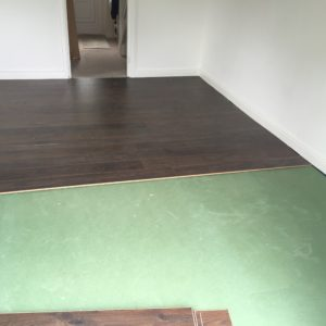 underlay ready to install the laminate flooring