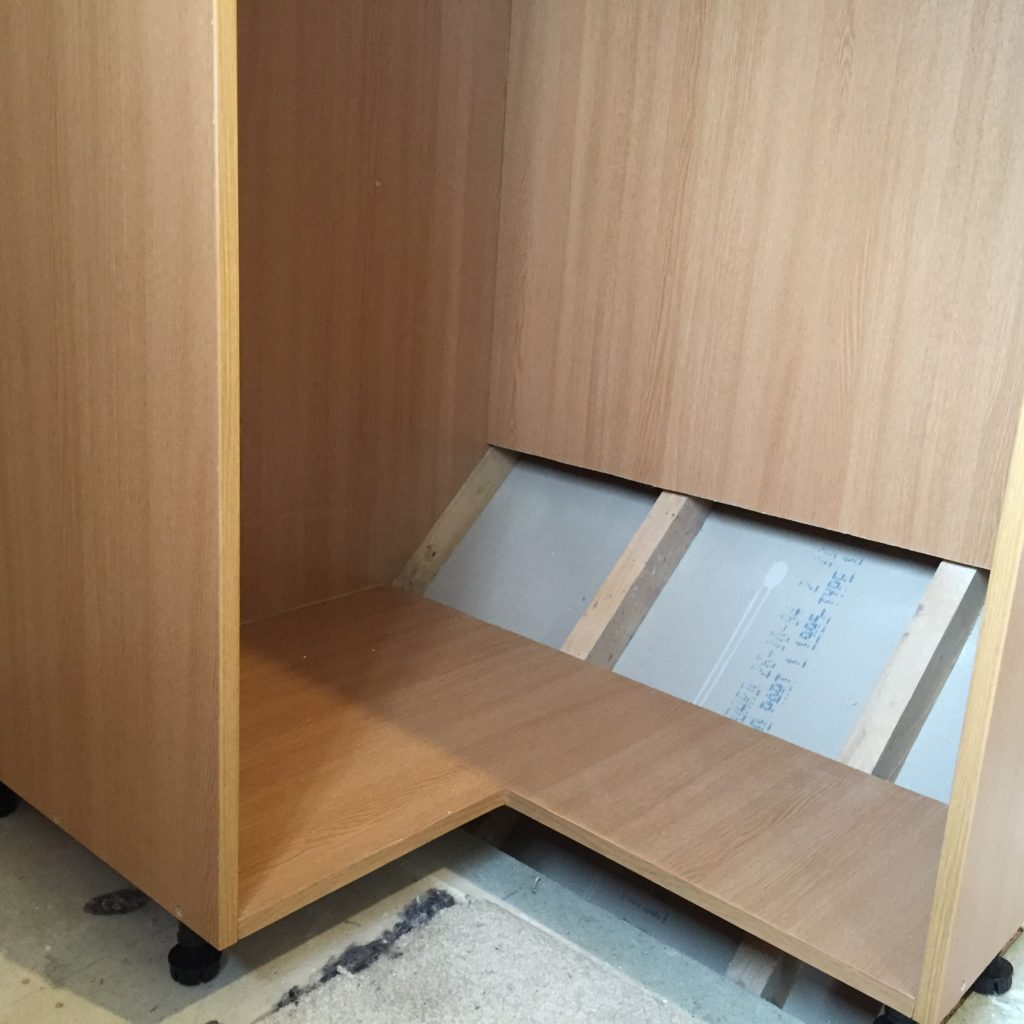 Building a wardrobe over a stairs bulkhead the wardrobe carcass over the stairs bulkhead