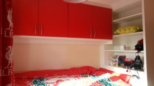 cabin bed with top box storage