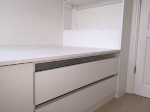 finished we were commissioned to provide an office desk and cabin bed with storage capacity.