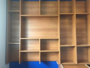 building open shelf tv unit