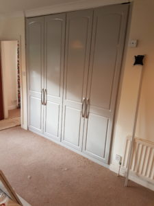 doors and handles fitted to wardrobes