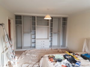 drawers and hanging spaces for wardrobe