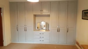final view of built in wardrobes with dressing table and internal drawers