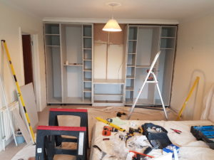 working on one of the wardrobes