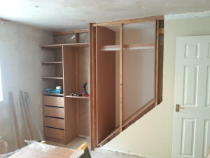 wardrobe above stairs bulkhead