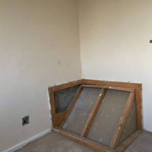 Cabin bed over the stairs bulkhead for Stair box in bedroom ideas