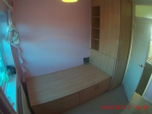 Cabin Bed Over Stairs Bulkhead